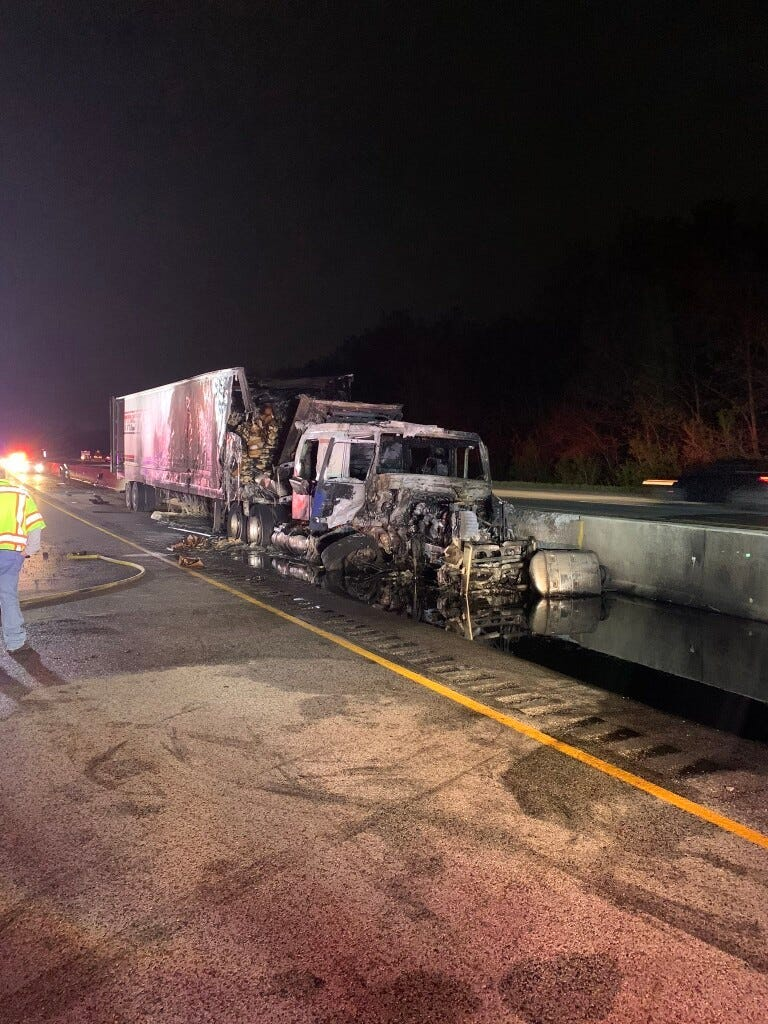 At least one person was killed in a crash May 22, 2020, on eastbound I-94 in Portage, Indiana.