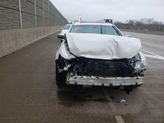 Woman charged with violating travel restriction after Indiana Toll Road crash