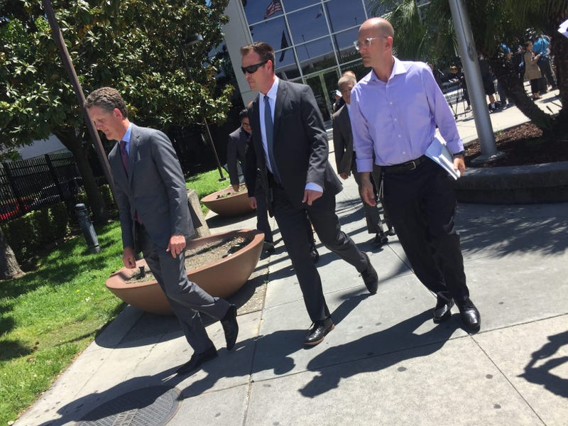 Santa Clara Chief Assistant District Attorney Jay Boyarsky is on the left.