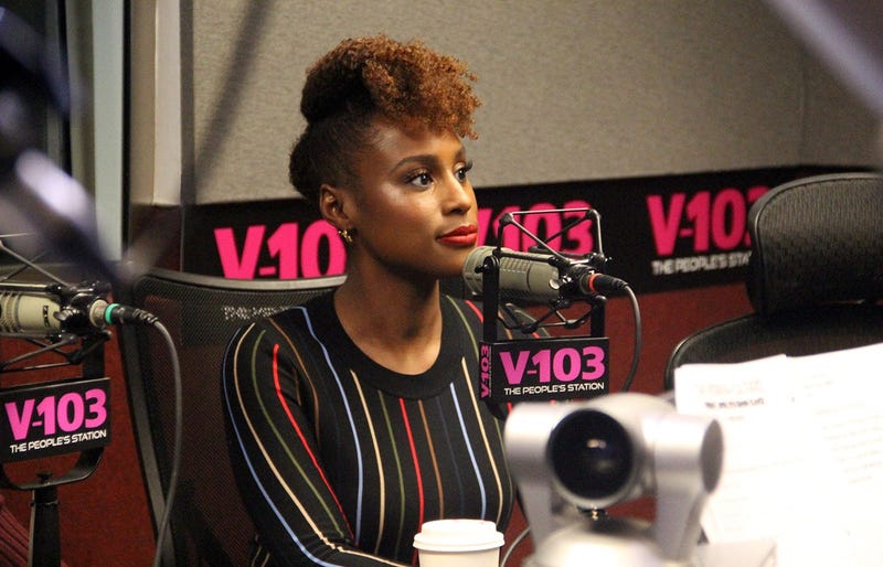 """Issa Rae of the movie """"Little"""" visits V-103's The Morning Culture with Frank Ski, Jade Novah & JR"""