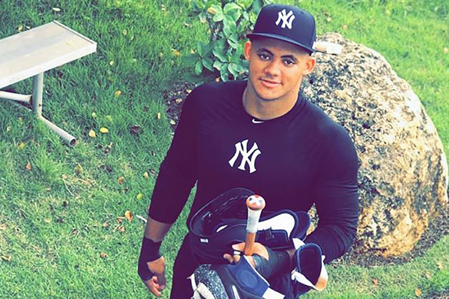WATCH: Yankees No. 1 prospect Jasson Dominguez living up to his nickname 'The Martian'