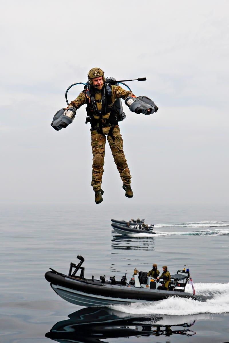 Royal Navy tests 'jet suit'