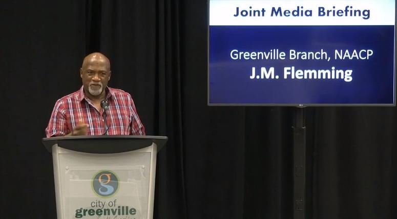 JM Flemming - President of Greenville NAACP