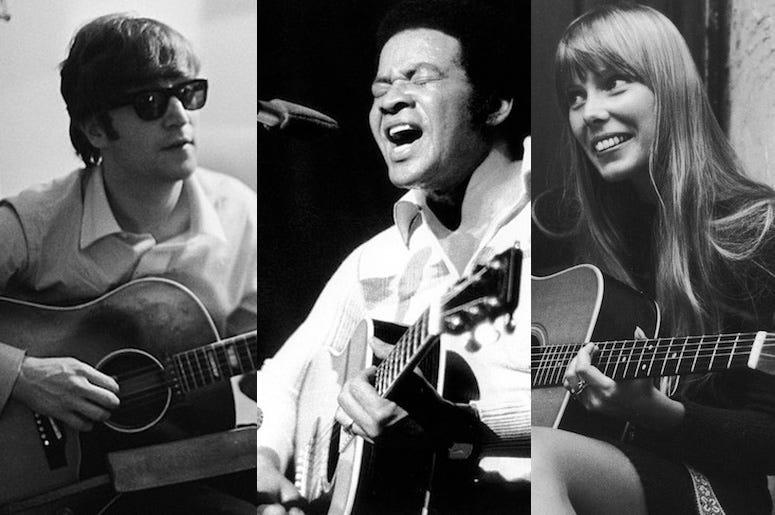John Lennon, Bill Withers, Joni Mitchell