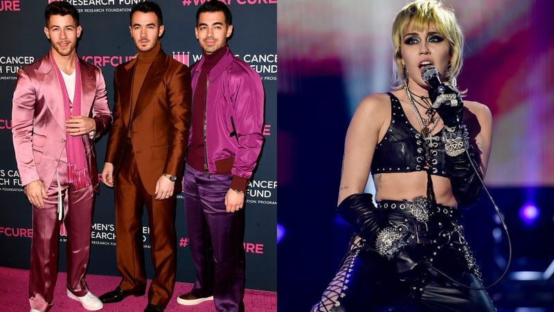 Jonas Brothers and Miley Cyrus