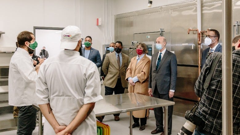 Gov. Wolf visits Philabundance for community kitchen grand opening