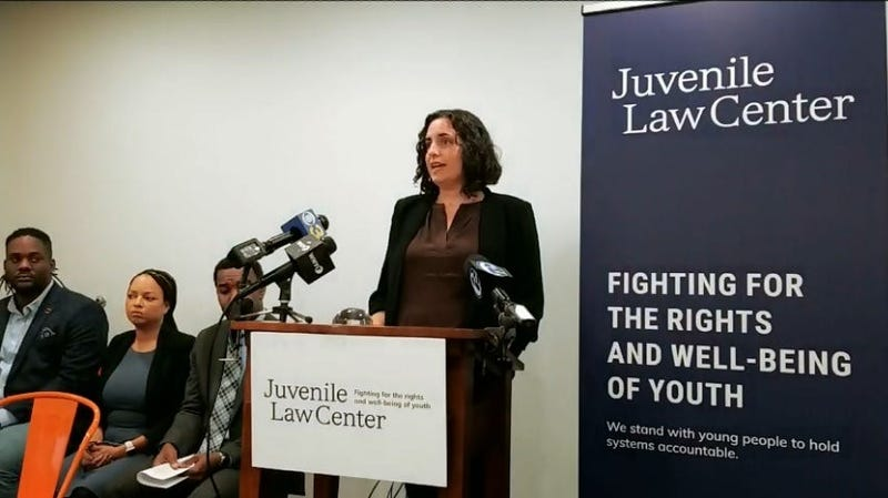 Press conference at the Juvenile Law Center.