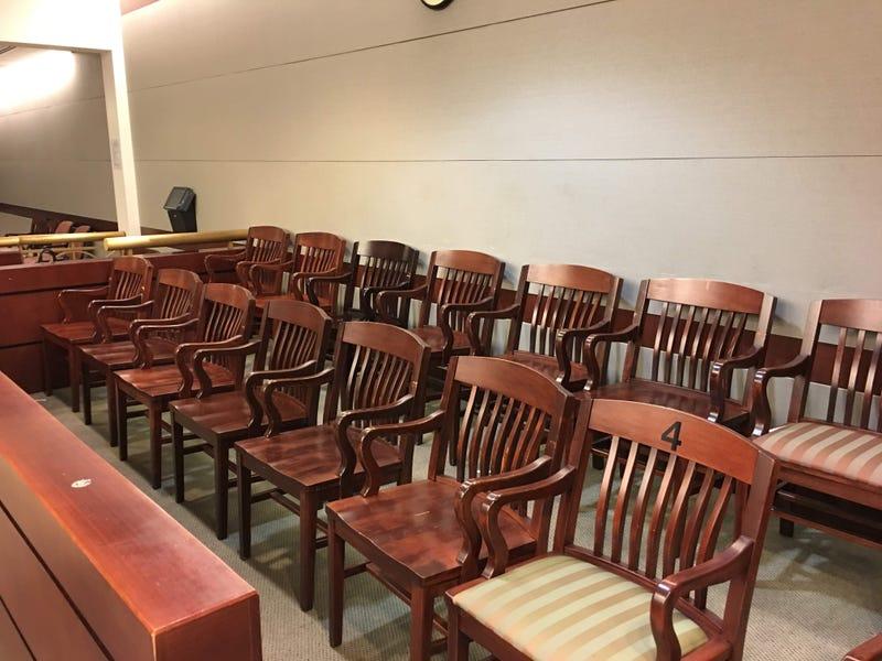A jury box in Philadelphia.