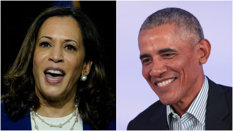 Kamala Harris (left) / Barack Obama (right)