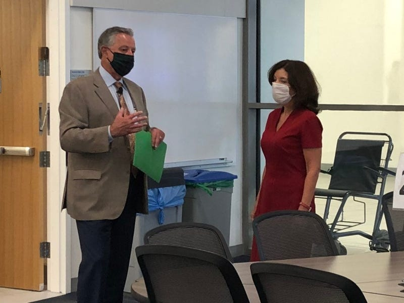 Lieutenant Governor Kathy Hochul tours Jacobs School of Medicine on the eve of phase four beginning in WNY. June 29, 2020 (WBEN Photo/Mike Baggerman)