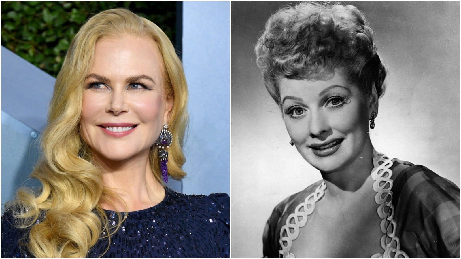 Nicole Kidman transforms into Lucille Ball on new film set