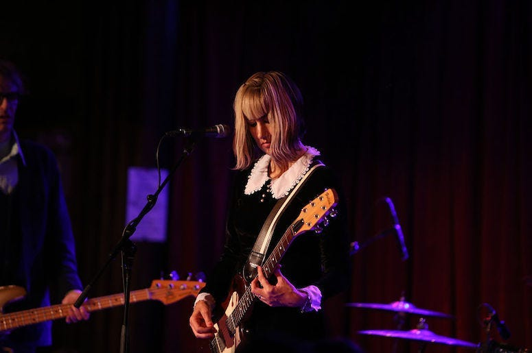 Kim Shattuck of The Muffs performs in concert.