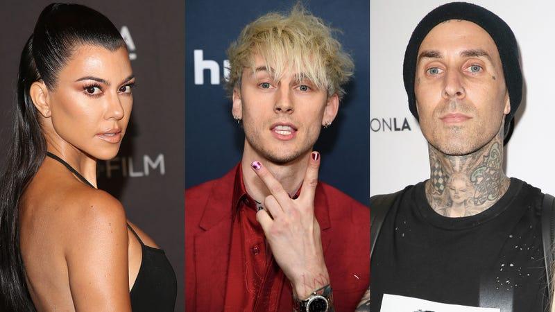 Kourtney Kardashian, Machine Gun Kelly, Travis Barker