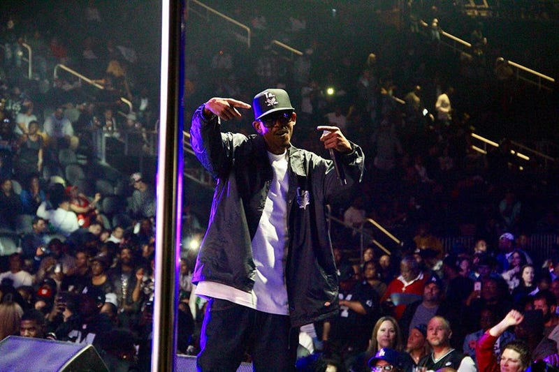 Tha Dogg Pound perform at Atlanta's State Farm Arena during the Puff Puff Pass Tour