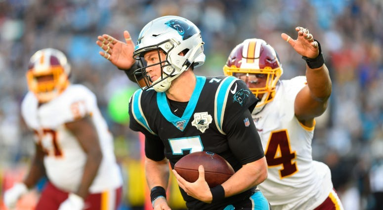 Redskins acquire QB Kyle Allen in trade with Panthers