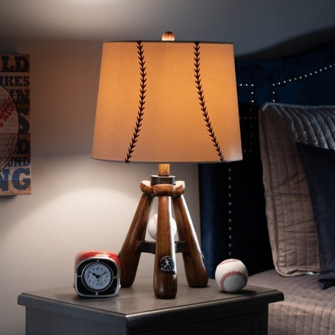 Baseball lamp from Overstock.