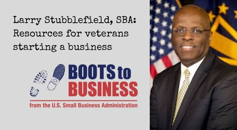 US Small Business Administration's Larry Stubblefield