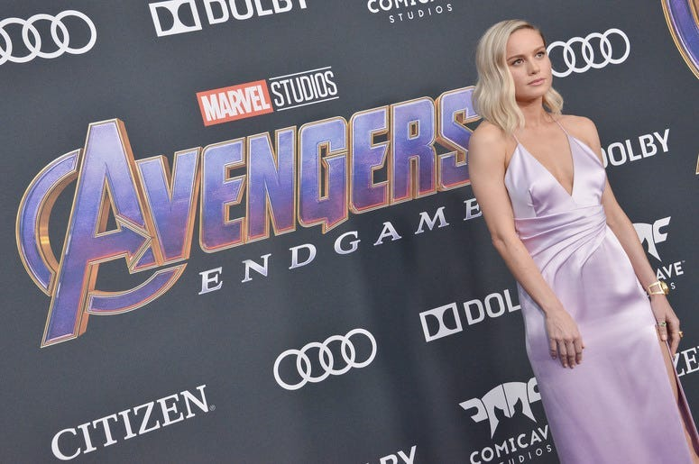 Brie Larson arrives at Marvel Studios
