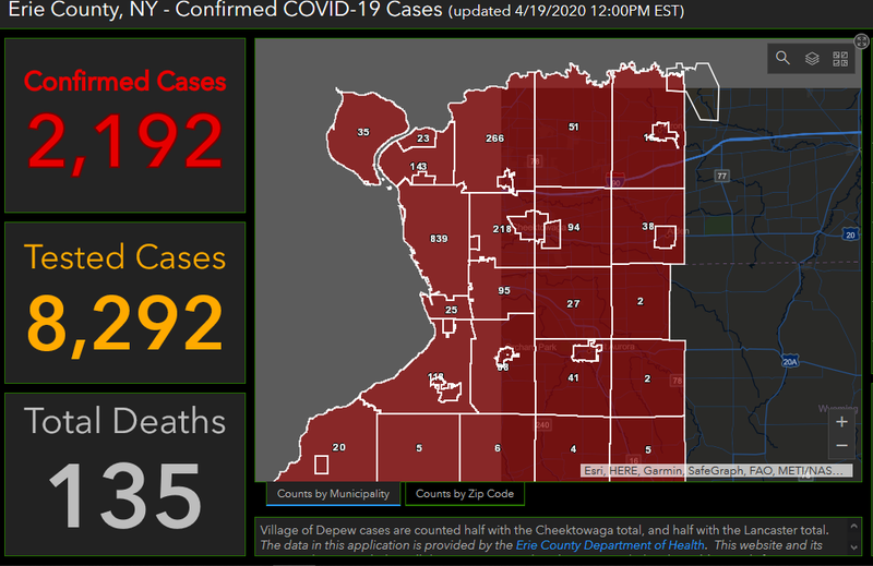 Erie County Covid 19 Deaths Continue To Rise