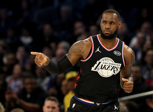 LeBron James at the 2019 NBA All-Star Game