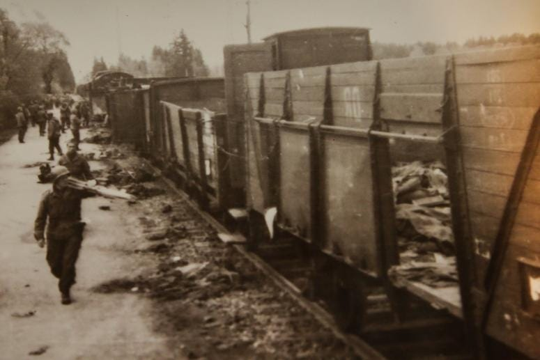 Boxcars at Dachau