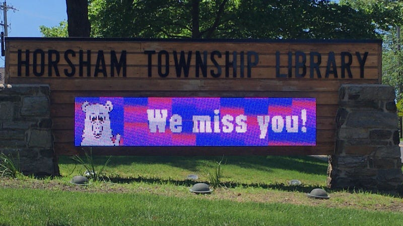 The Horsham Township Library has resumed operations and welcomed back staff, but patrons are still not allowed inside.