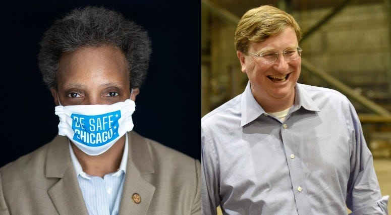 Chicago Mayor Lori Lightfoot and Mississippi GovernorTate Reeves