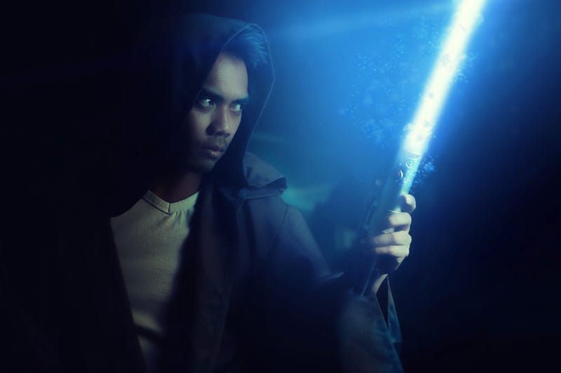 Guy with Light Sabre