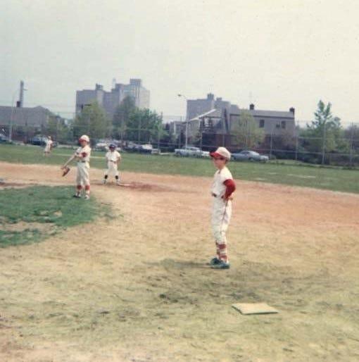Lin playing baseball