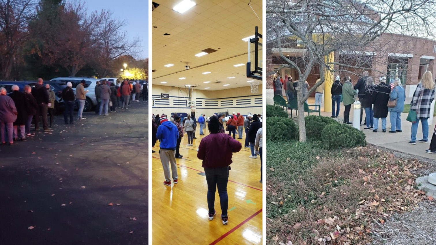 Here's how long the line is at every St. Louis County polling place