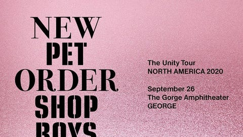New Order & Pet Shop Boys: The Unity Tour - RESCHEDULED