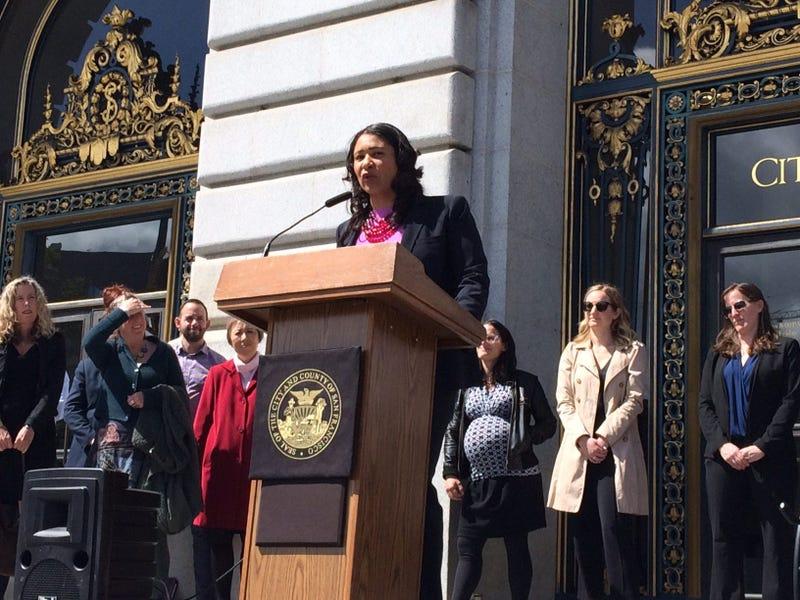San Francisco Mayor London Breed on April 16, 2019.