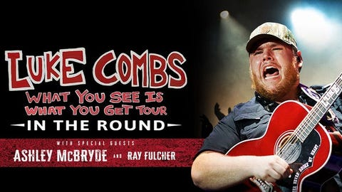 Luke Combs - What You See Is What You Get Tour - RESCHEDULED