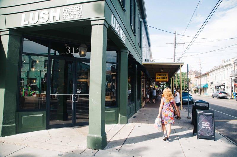 Lush cosmetics store
