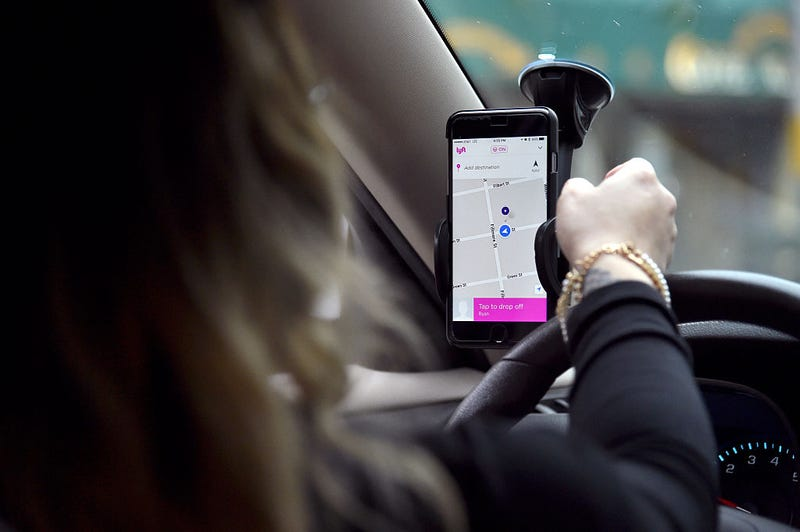 Lyft driver with app