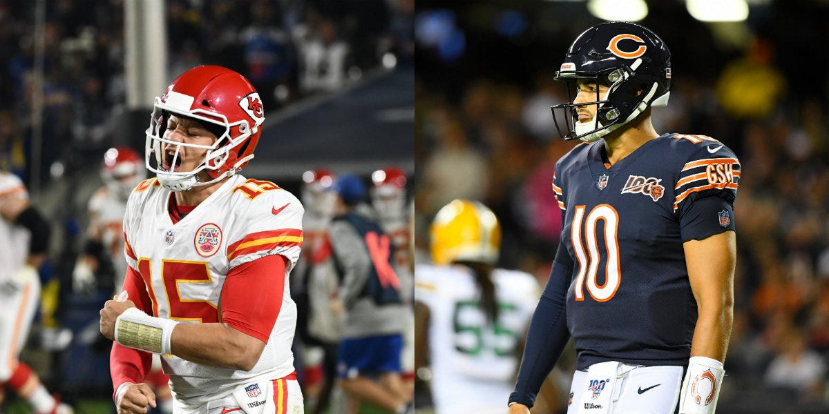 Patrick Mahomes Shadow Looms Over Mitchell Trubisky