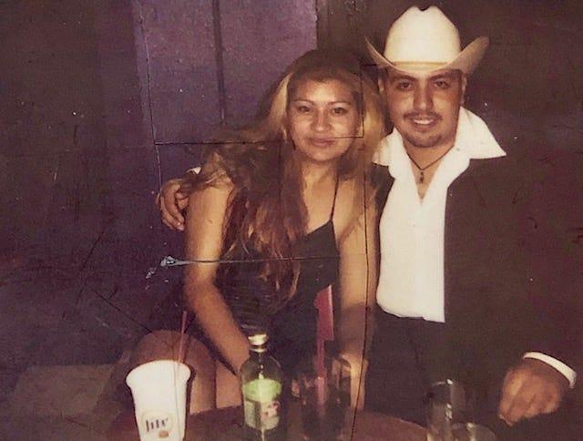 Murder victim Aldo Ariaza with suspect named Maria