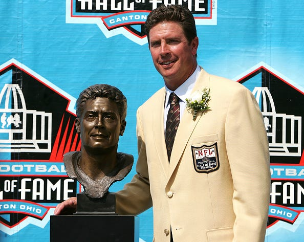 Dan Marino gets inducted into the Hall of Fame.