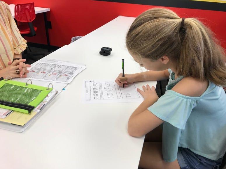 Practicing math skills - Emily Gill