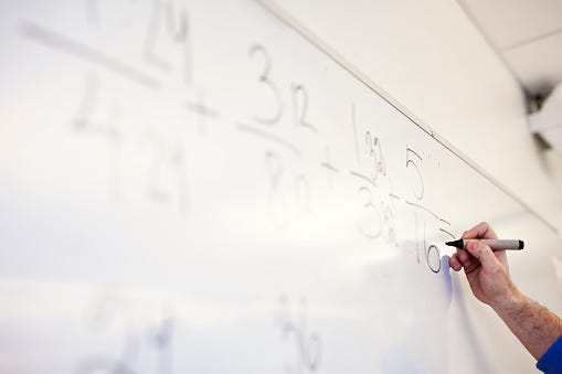 Math Teacher, Whiteboard, Help, Social Distancing