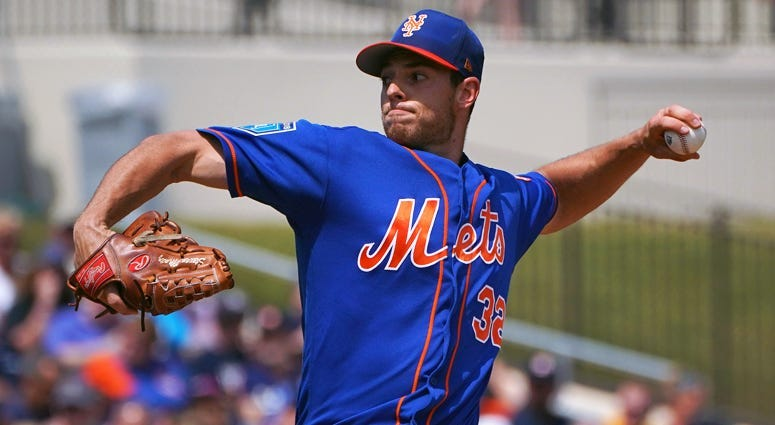 The Mets' Steven Matz pitches against the St. Louis Cardinals on April 1, 2018, at Citi Field.
