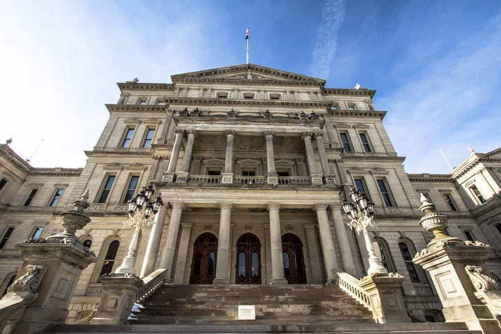 open-carry of guns in Michigan Capitol