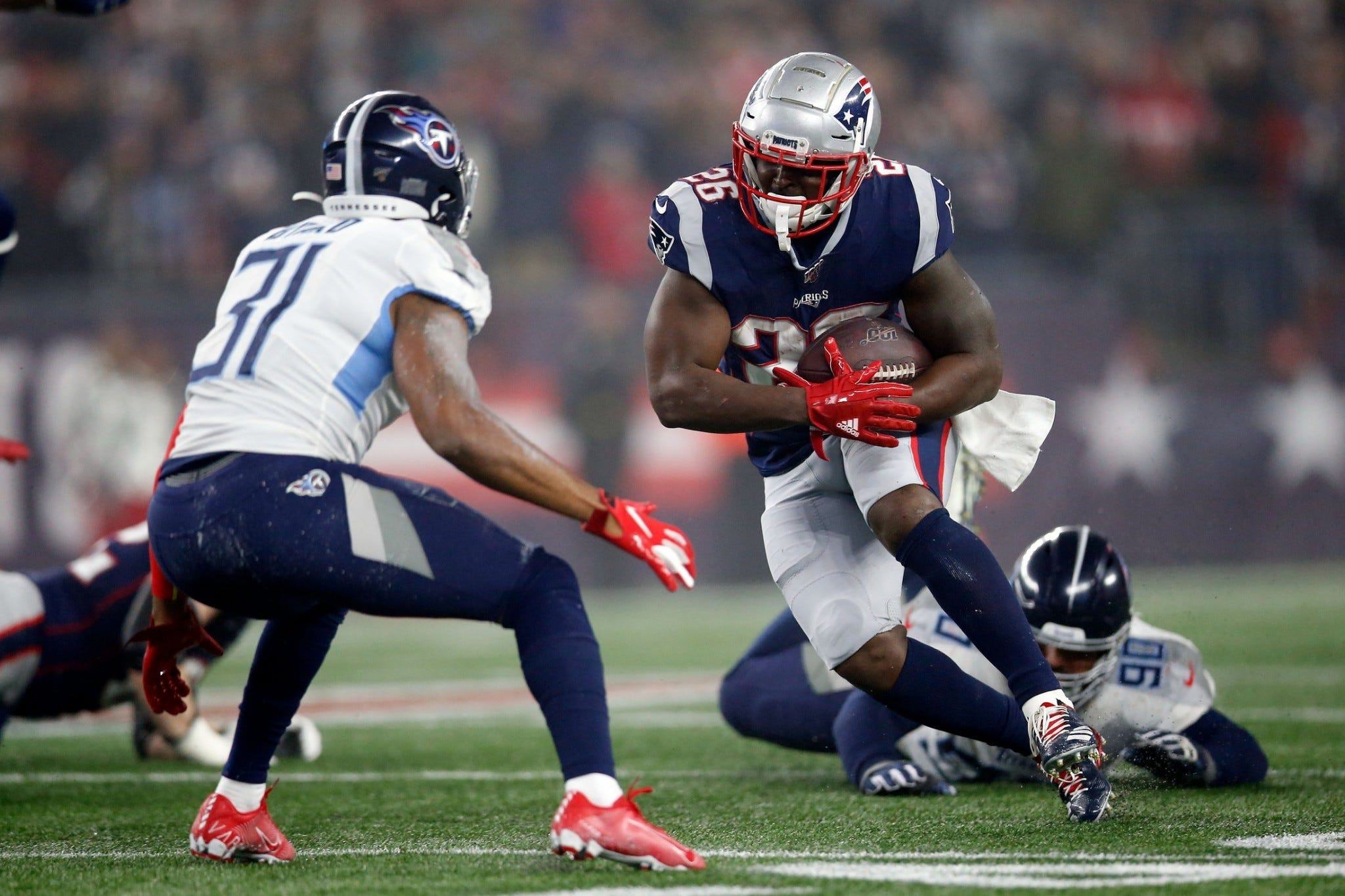 Sony Michel Discusses Coming Off Pup Damien Harris
