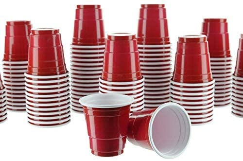Mini Red Disposable Shot Glasses