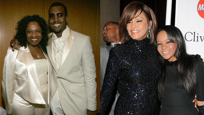 Donda West, Kanye West, Whitney Houston, Bobbi Kristina Brown