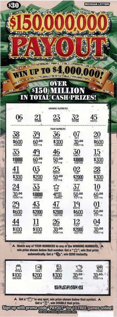 monroe man lottery ticket