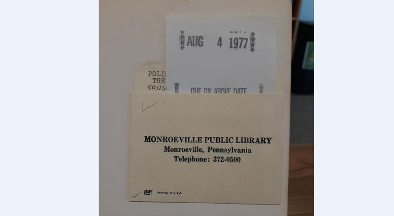 Monroeville Library Book