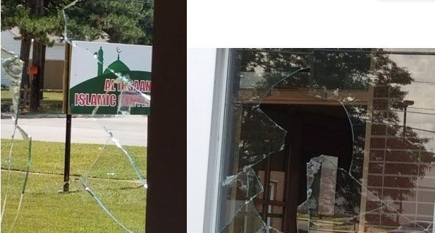 Warren mosque vandalism