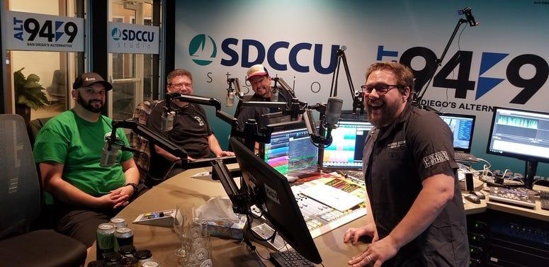 Nick, Kevin, Ken, and Jeremy in ALT 949 studio