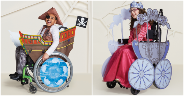 The pirate ship and princess carriage are designed specifically for wheelchair users.